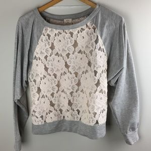 Urban Outfitters Pins & Needles Lace Sweathshirt